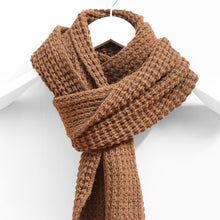 Load image into Gallery viewer, Waffle Stitch Scarf, Tobacco