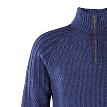 Load image into Gallery viewer, Zip Neck Sweater, Indigo