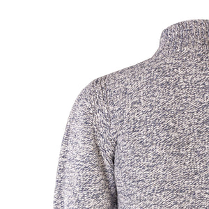 Zip Neck Sweater, Pebble