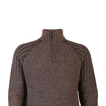 Load image into Gallery viewer, Zip Neck Sweater, Walnut