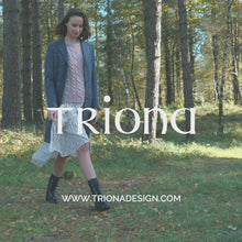 Load and play video in Gallery viewer, Navy Daisy Checked Donegal Tweed Coat