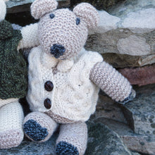 Load image into Gallery viewer, Aran Woolen Mills Hand Knit Aran Teddy with Waistcoat, Natural