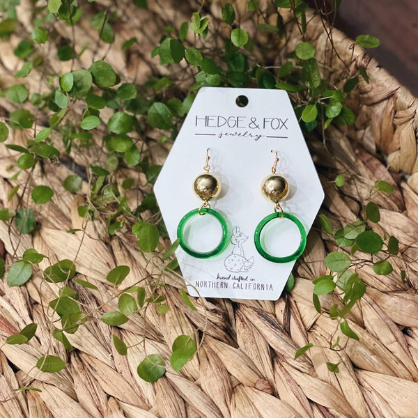 Hedge and Fox Earrings Un-named