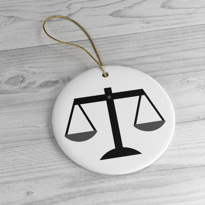 Attorney Christmas Ornament - Scales of Justice - The Legal Boutique