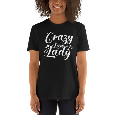 Attorney Gift T Shirt - Crazy Law Lady White - Women's Short Sleeve Shirt - The Legal Boutique