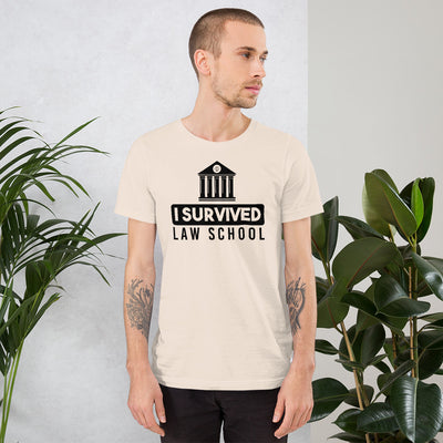 New Attorney T Shirt - I Survived Law School Light - Unisex Short Sleeve Shirt - The Legal Boutique