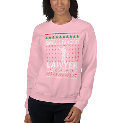 Ugly Christmas Sweater - Santa's Favorite Lawyer - Unisex Crew Neck Sweatshirt - The Legal Boutique