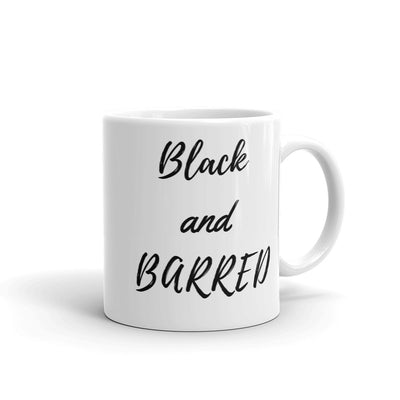 Lawyer Gift Mug - Black and Barred - Ceramic Coffee Mug - The Legal Boutique