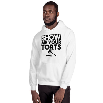 Lawyer Gift Sweatshirt - Show Me Your Torts Black - Unisex Hooded Sweater - The Legal Boutique