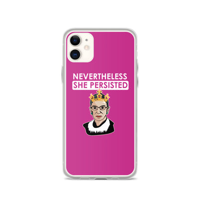 New Lawyer Gift - Nevertheless She Persisted RBG - iPhone Case - The Legal Boutique