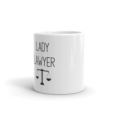 Lawyer Gift Mug - Lady Lawyer and Scales - Ceramic Mug - The Legal Boutique
