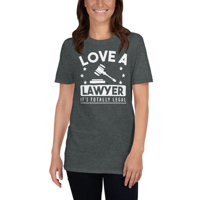 Attorney T Shirt Gift - Love A Lawyer - Premium Unisex Short Sleeve Shirt - The Legal Boutique