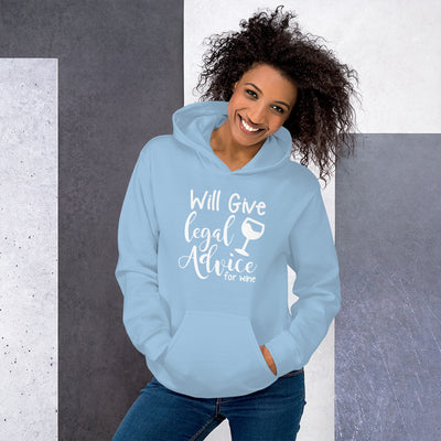 Lawyer Gift Hoodie - Legal Advice for Wine - Unisex Hooded Sweatshirt - The Legal Boutique