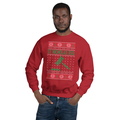 Ugly Christmas Sweater - St. Nicholas, Esquire - Unisex Crew Neck Sweatshirt - The Legal Boutique