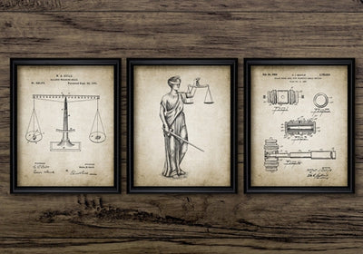 Law Office Decor Poster - Vintage Patent Canvas Prints - Artwork for Lawyers - The Legal Boutique