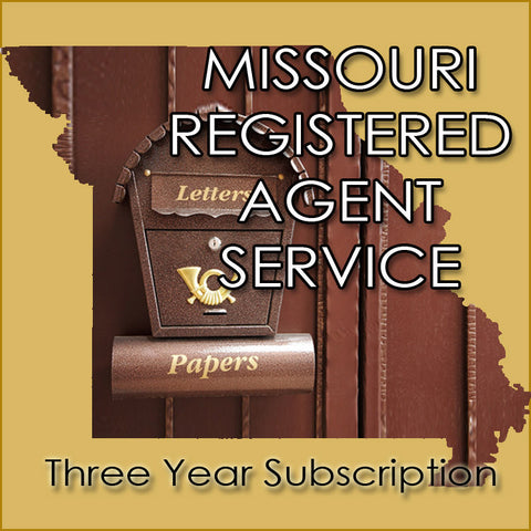 Missouri Registered Agent Service (3 Years)