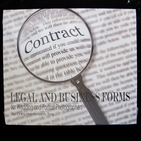 Legal and Business Forms for Wedding and Portrait Photographers