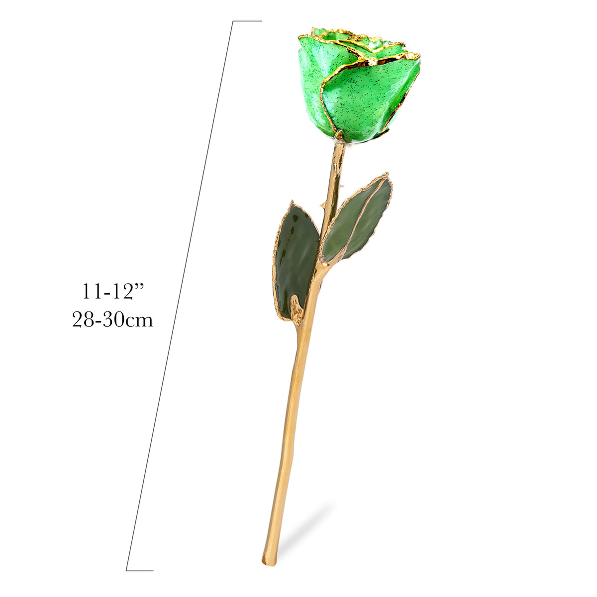 24K Gold Forever Rose - Peridot Sparkle (August Birthstone)