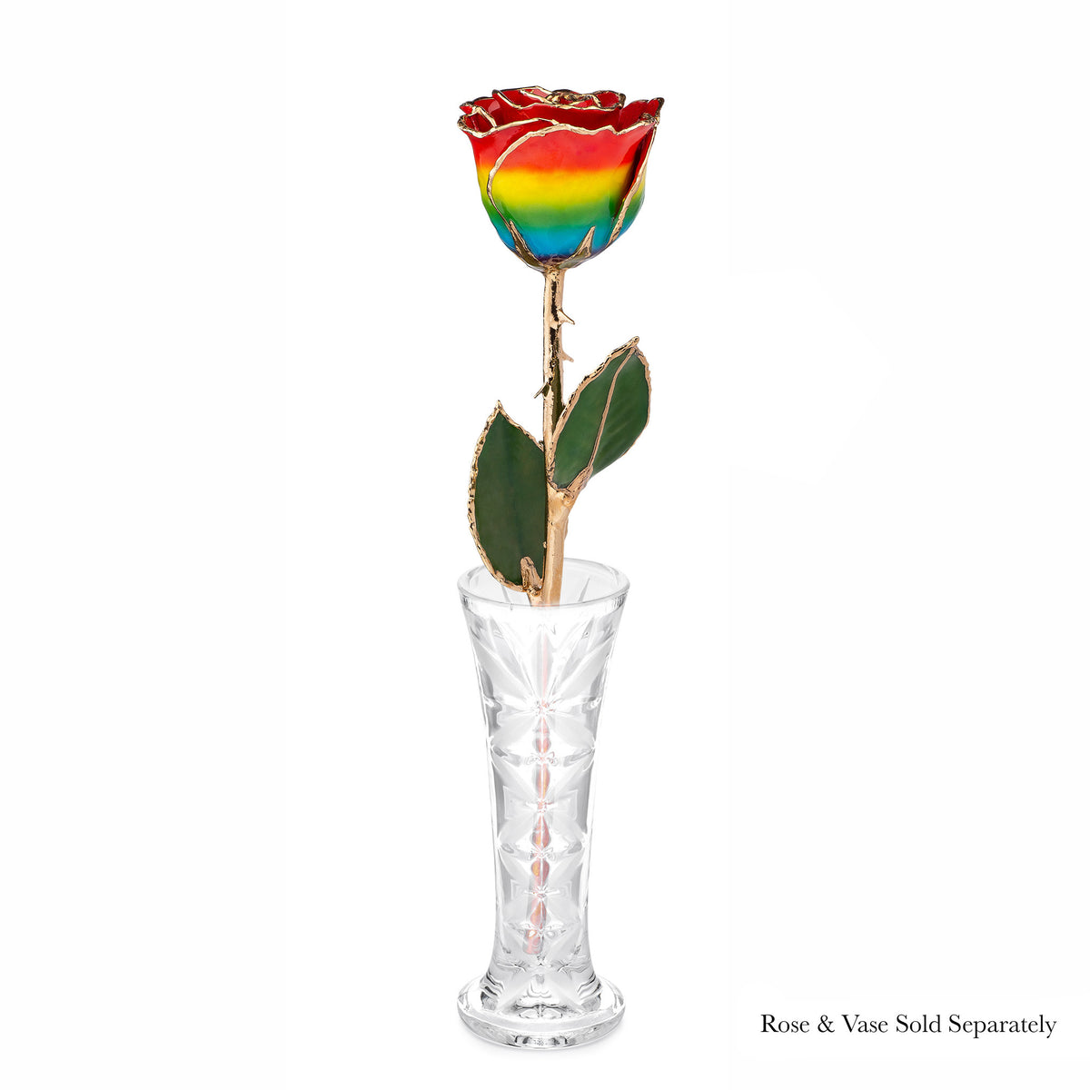 24K Gold Forever Rose - Rainbow