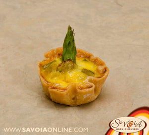 Mini Asparagus and Brie Quiche