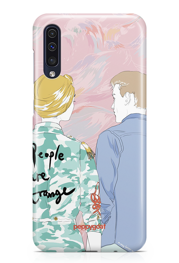 """People Are Strange"" Galaxy A50 Printed Back Cover Case"