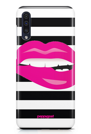 """Pink Lips"" Galaxy Printed Back Cover Case"