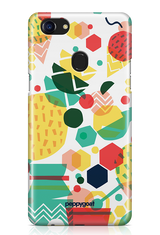 """Grid Pattern"" Oppo F7 Printed Back Cover Case"