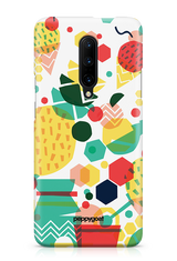 """Grid Pattern"" OnePlus 7 Pro Protective Back Cover Case"