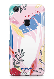 """Pink Leaves"" Vivo Y83 Printed Back Cover Case"
