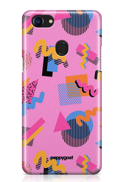 """Colored Pattern"" Oppo Printed Back Cover Case"