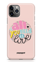 """All You Need Is Love"" iPhone Printed Back Cover Case"