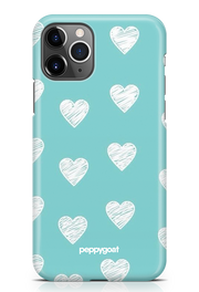 """White Hearts"" iPhone Printed Back Cover Case"