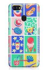 """Beach Pattern"" Oppo Printed Back Cover Case"
