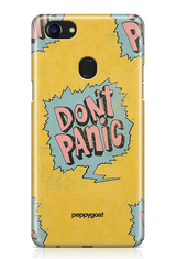 """Don't Panic"" Oppo Printed Back Cover Case"