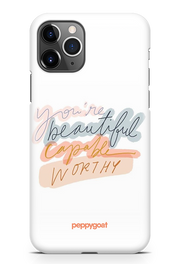 """You Are Beautiful"" iPhone Printed Back Cover Case"