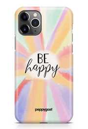 """Be Happy"" iPhone Printed Back Cover Case"
