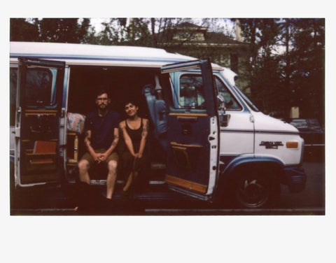 Caldera founders Kyle and Portia, Foxy the Van, 2016.