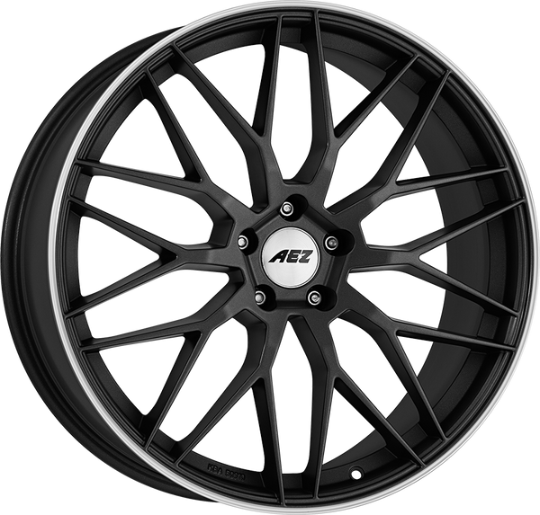 AEZ - Crest Dark, 19 x 8 inch, 5x114.3 PCD, ET50, Gunmetal / Polished Single Rim