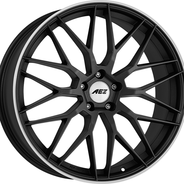 AEZ - Crest Dark, 17 x 7.5 inch, 5x112 PCD, ET48, Gunmetal / Polished Single Rim