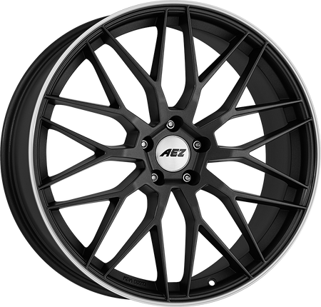 AEZ - Crest Dark, 17 x 7.5 inch, 5x112 PCD, ET52, Gunmetal / Polished Single Rim