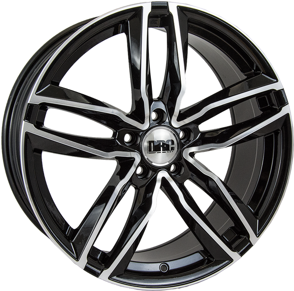 DRC - DAA, 19 x 8.5 inch, 5x112 PCD, ET45, Black / Polished Face Single Rim