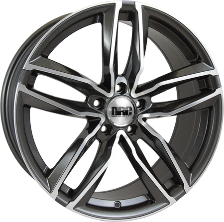 DRC - DAA, 18 x 8 inch, 5x120 PCD, ET45, Gunmetal / Polished Single Rim