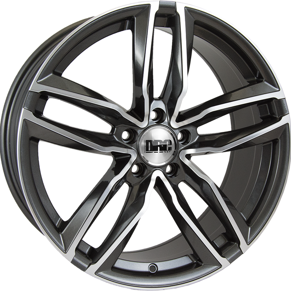 DRC - DAA, 19 x 8.5 inch, 5x112 PCD, ET45, Gunmetal / Polished Face Single Rim