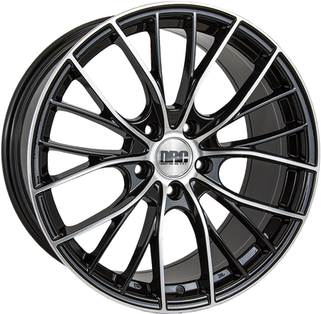 DRC - DMM, 19 x 9 inch, 5x112 PCD, ET48, Black / Polished Face Single Rim