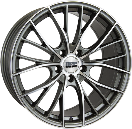 DRC - DMM, 19 x 8 inch, 5x112 PCD, ET45, Gunmetal / Polished Face Single Rim