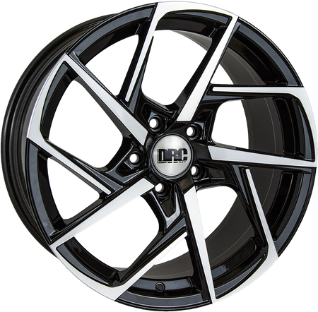 DRC - DVX, 18 x 8.5 inch, 5x108 PCD, ET45, Black / Polished Face Single Rim
