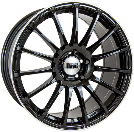 DRC - Rapide, 19 x 8.5 inch, 5x112 PCD, ET45, Gloss Black / Polished Lip Single Rim