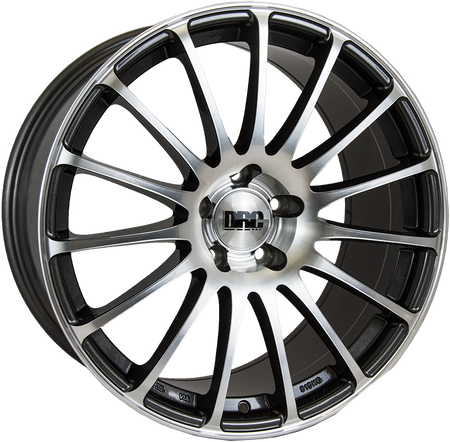 DRC - Rapide, 19 x 9.5 inch, 5x112 PCD, ET48, Gunmetal / Polished Lip Single Rim