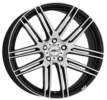 AEZ - Cliff Dark, 20 x 9 inch, 5x112 PCD, ET50, Black / Polished Face Single Rim