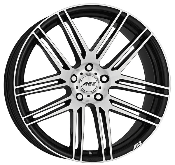 AEZ - Cliff Dark, 20 x 9 inch, 5x120 PCD, ET25, Black / Polished Face Single Rim